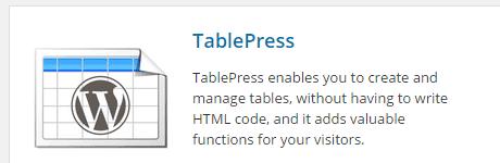 TablePress-Install